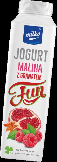 Jogurt malina z granatem